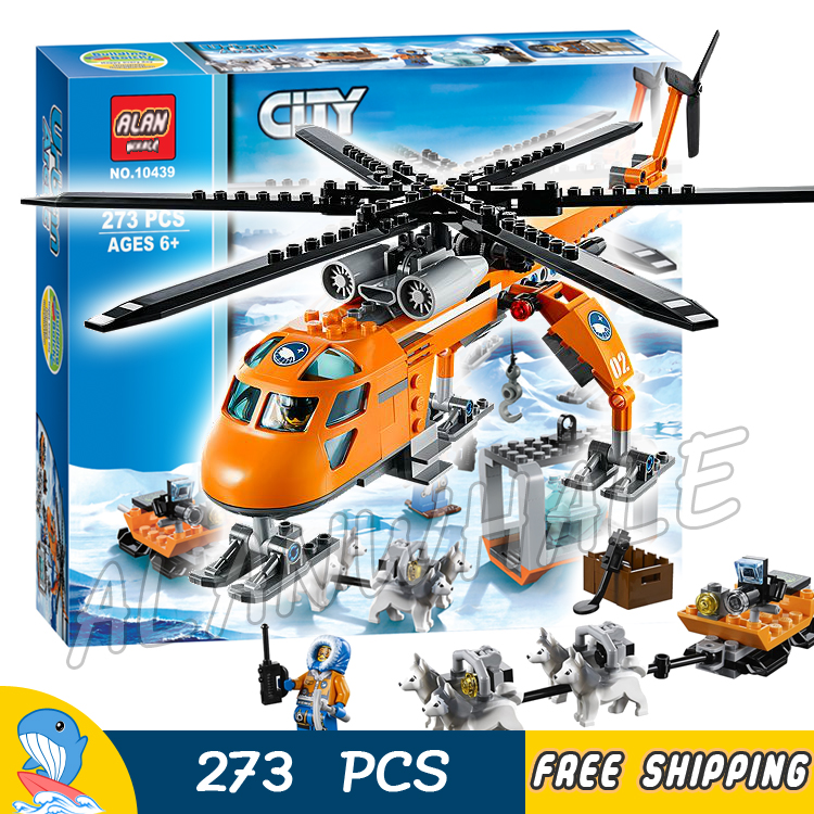 273pcs City Arctic Helicrane Helicopter 10439 New building blocks Figures Model Children Toys Bricks Kits Compatible With lego bela 10439 compatible lepin city arctic helicrane building blocks policeman figure toys for children girls