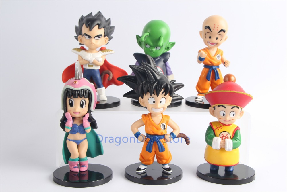 Action & Toy Figures Cheap Price 6pcs/set Dragon Ball Z Dbz Super Adverge Kid Goku Vegeta Gohan Piccolo Krillin Pvc Figure Toys Dolls With Traditional Methods