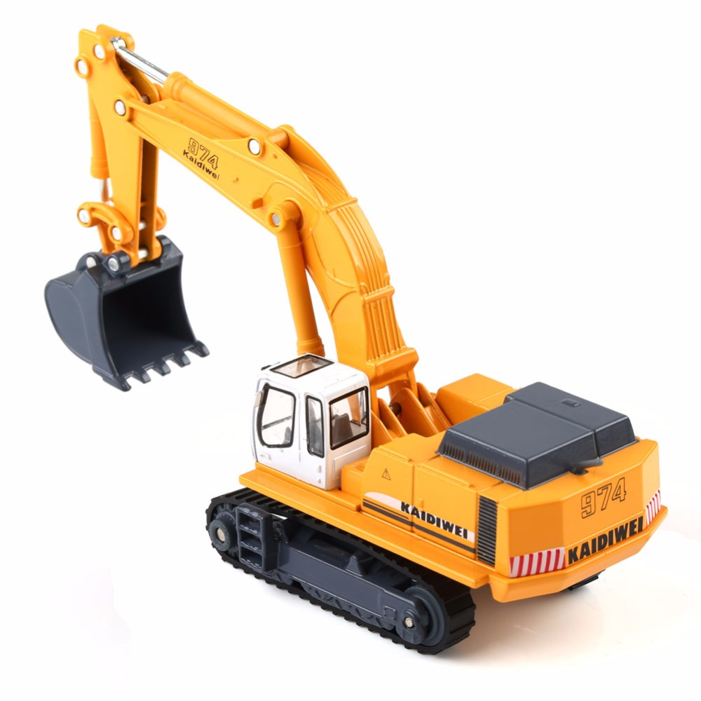 KAIDIWEI 1 87 Diecast Excavator Construction Equipment Model Kids Toys Gift 1 87 HO Scale in Model Building Kits from Toys Hobbies