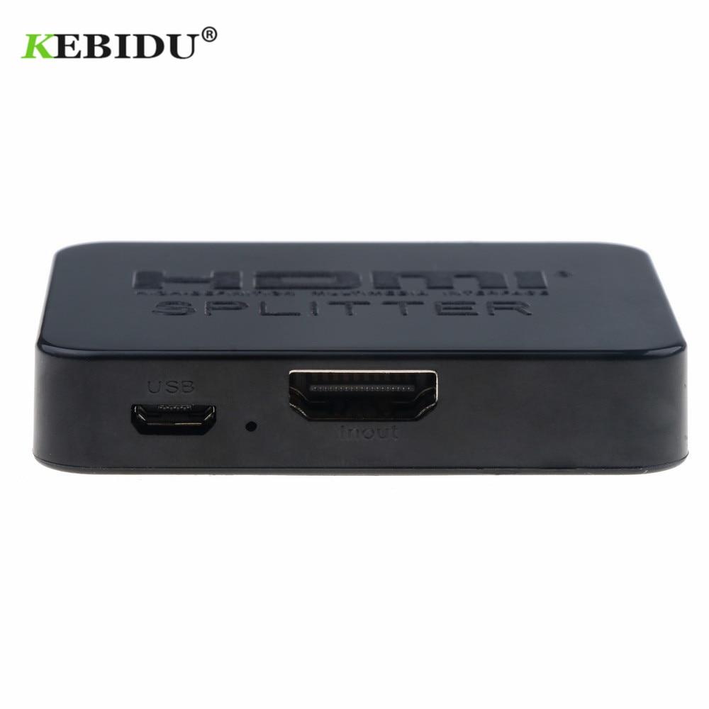 HDMI 1 in 2 out 1080p 4K 1x2 HDCP Stripper HDMI Splitter Power Signal Amplifier