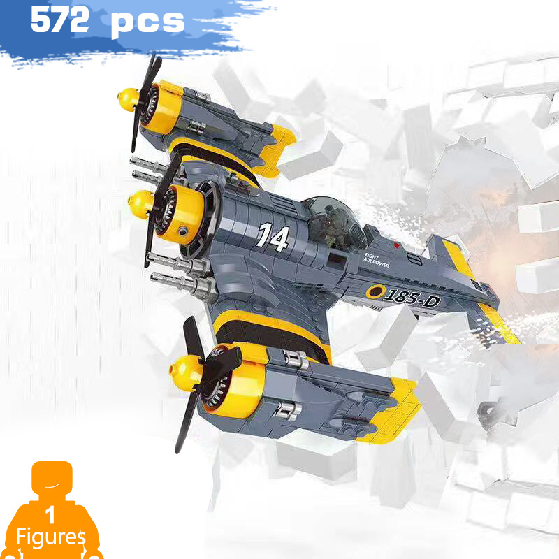 The New Beautiful Fantasy Combat aircraft classic series Building Blocks compatible Military ww2 Assemble figure toys