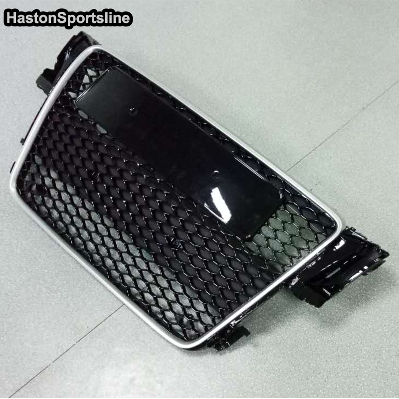 A5 RS5 S5 S-line Silver ABS Car Styling Exterior Parts Front Mesh Grill  Grille for Audi A5 2Door