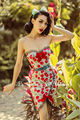 FREE SHIPPING Le Palais vintage classic retro sweet cherry hit color pin up bowknot bodycon dress