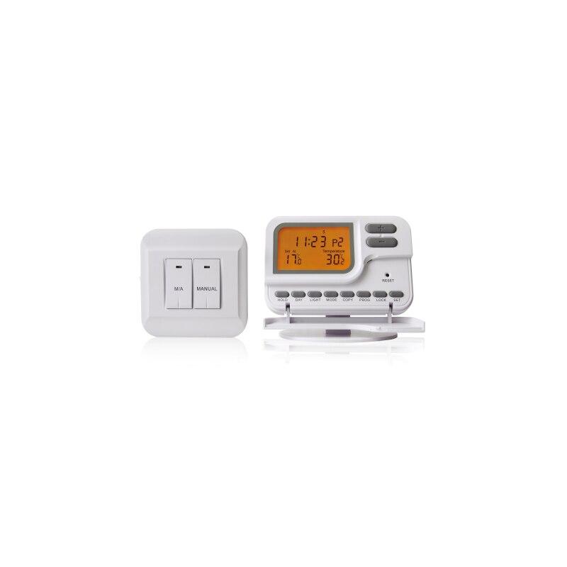 TP28RF Thermostat d'ambiance sans fil TP28RF pour système de chauffage de l'eau/système de chauffage de chaudière à gaz, Programmable 7 jours