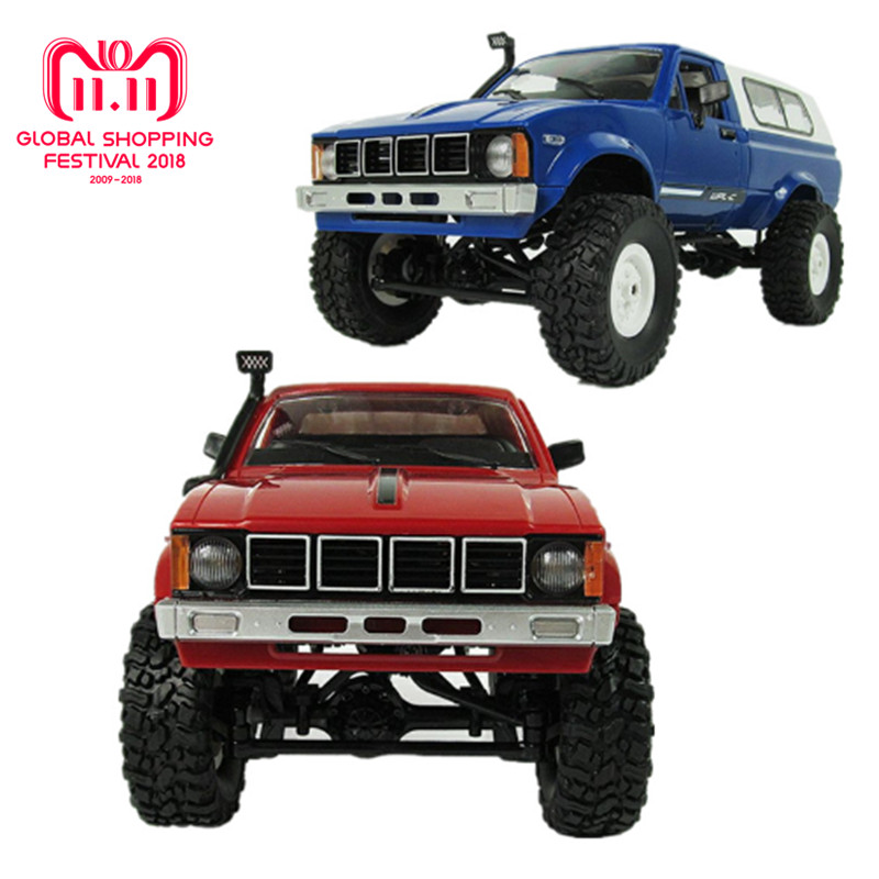 WPL C-24 Jeep 4WD RC CAR Remote Control Toy 1:16 Model Car 2.4G OFF-Road RC High Speed Truck RTR Car for Child hsp rc car toy 1 8 scale brushless electric car 4wd rtr off road remote control rc car jeep truck high speed item no 94067