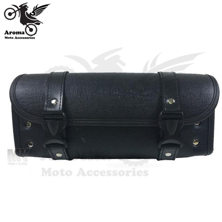 black retro moto side bags for harley prince cruise leather motorbike saddlebar scooter pouch luggage motorcycle tail light
