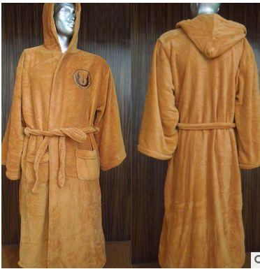 Anime dos desenhos animados engrossar Coral robe de flanela Roupão Casuais Homens encapuzados Vestes Sleepwear fleece Inverno Longo Roupão De Banho 122703