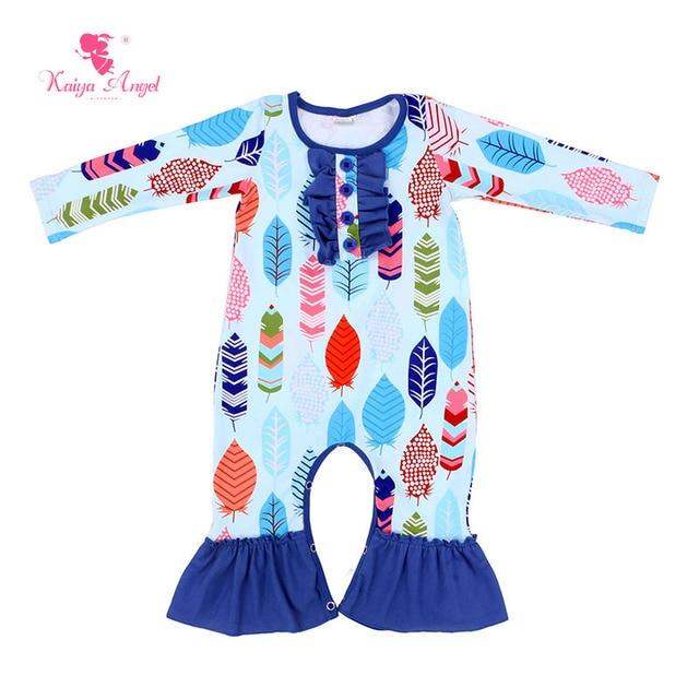 d617ffc4c496 Kaiya Angel Baby Girl Rompers 2017 Newborn Clothes Fall Long Sleeve ...