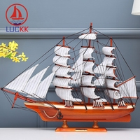 LUCKK CUTTY SARK DIY 60 CM Exquisite Wooden Sailboat Ship Model Wholesale Home Office Decoration Accessorie Crafts Free Shipping