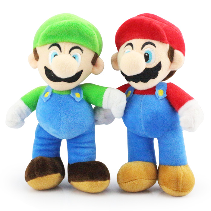 25cm Super Mario Bros High Quality Plush Toys Mario Luigi Plush Stuffed Plush Dolls Gift 30cm super mario bros green yoshi soft stuffed plush toys doll with tag gift for kids