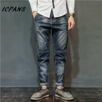 2018 New Jeans Men Robin Biker Mens Distressed Overalls Fashion Jean Skinny Designer Clothes Brand Slim Full Length Plus Size