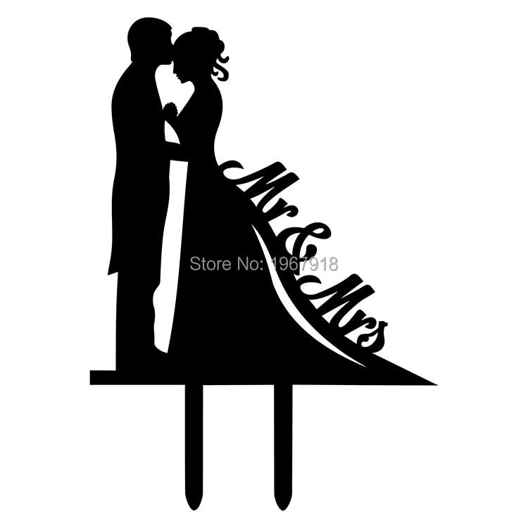 f6f346b531d9f أسود كعكة الزفاف توبر خيال العروس والعريس زفاف أنيقة و رومانسية التقبيل  السيد والسيدة كعكة توبر شحن مجاني
