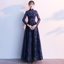 2020 Lace Evening Dress Long Sleeves Custom Made Full Length Vintage Mother Of The Bride Dresses Vestido De Festa  LF265