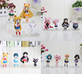 16Pcs/Lot Anime Sailor Moon Figures Tsukino Usagi Sailor Mars Mercury Jupiter Venus Saturn Figure Toy PVC Model Dolls 6~7cm