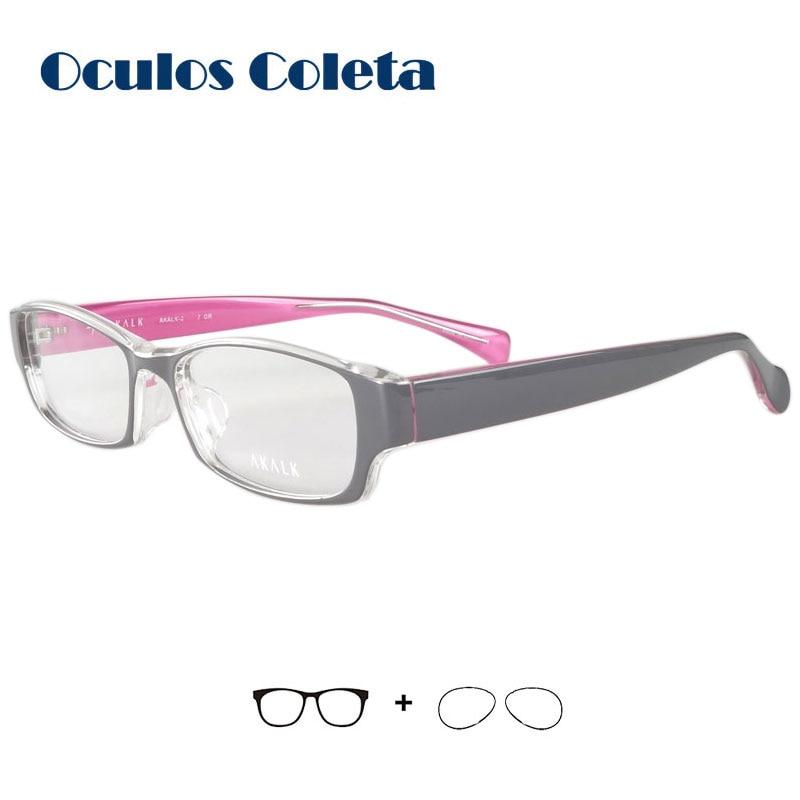 100% Kwaliteit Vrouwen Plastic Titanium Tr90 Recept Bril Transparant Zwart/grijs/bruin Voor Bijziendheid/presbyopie/astigmatisme