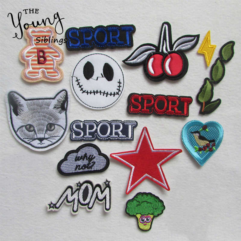 New Mixed high quality fashion For Clothing Iron On Embroidered Applique DIY Apparel Accessories Patches For Clothing Fabric