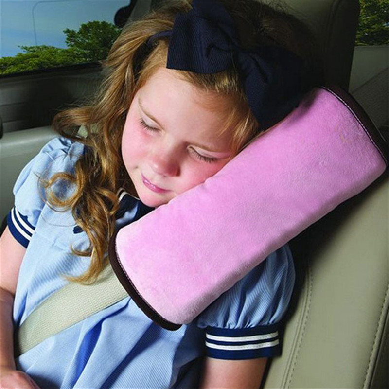Car Seat Back Protector Safety Protect Shoulder Pad Baby Side Sleeper Pillow Seat Belt Cushion Protect Neck