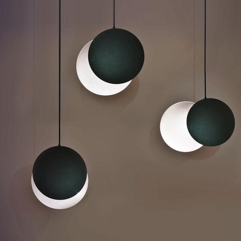 Modern hanging lamp light LED dinning bed room bedroom foyer round glass ball black gold nordic simple modern pendant light lamp|Pendant Lights| |  - title=