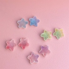 Koren Handmade Cute star Sweet Candy Jelly stud Earrings Funny Colorful Resin Sugar for Woman Girl Unique Jewelry Gift