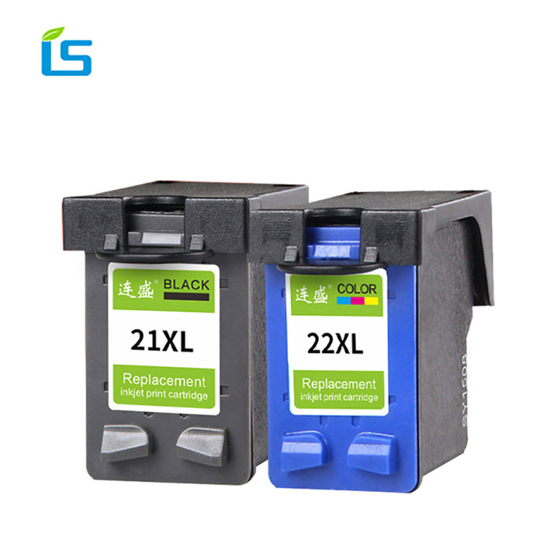 2Pack 21XL 22XL Remanufactured Ink Cartridge 21 and 22 Compatible for HP Deskjet 3915 3920 3940 D1320 D1455 F2100 F2280 F4180 hwdid 21xl 22xl refilled ink cartridge replacement for hp 21 22 use for deskjet 3915 1530 1320 1455 f2100 f2180 f4100 f4180