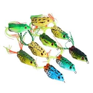Image 5 - Gotureカエル釣りルアー5.5センチメートル12.5グラムソフトシリコーン餌クランク鯉wobblers人工餌カエルルアー