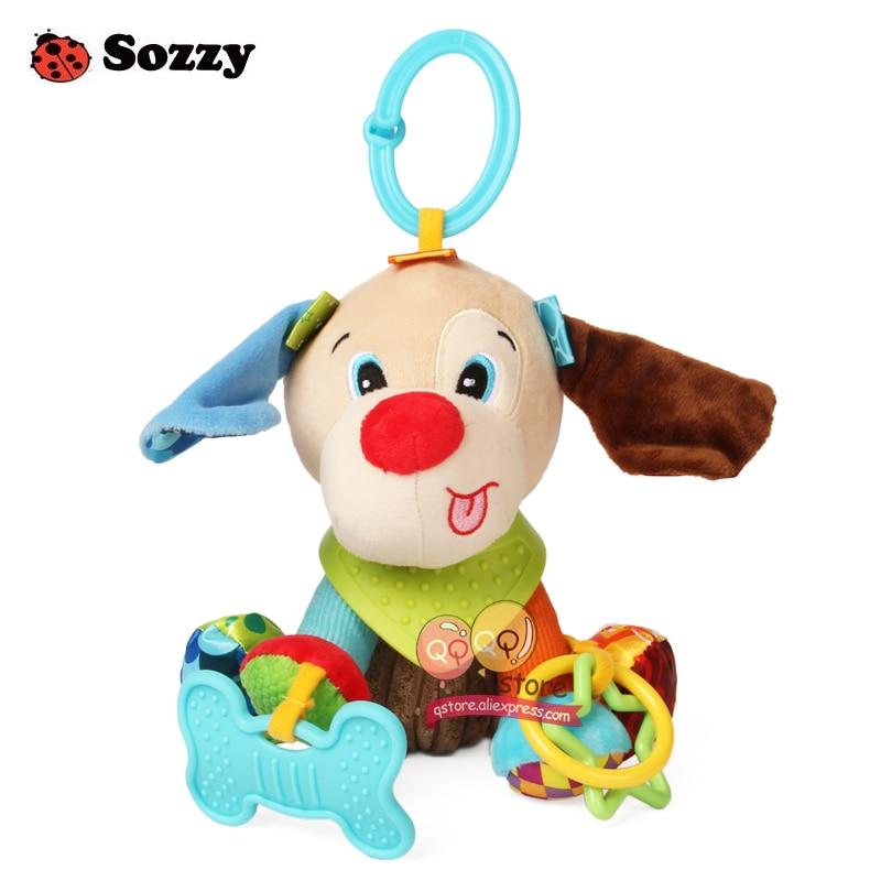 Sozzy Indah Mewah Boneka Binatang Bertekstur Lembut Bed Crib Stroller - Mainan balita - Foto 3