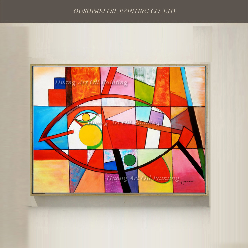 New 100% Hand Painted Modern Abstract Canvas Art Oil Painting Craft ...