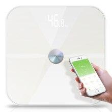 T6 גוף שומן סולמות רצפה מדעי אלקטרוני LED דיגיטלי משקל אמבטיה ביתי איזון Bluetooth APP אנדרואיד או IOS