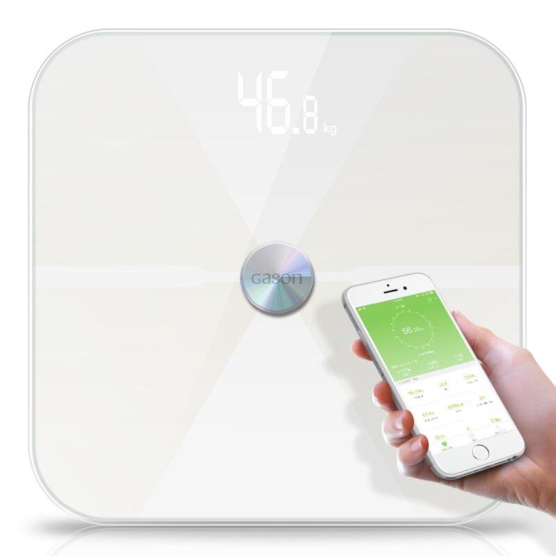 T6 corps graisse échelles plancher scientifique électronique LED numérique poids salle de bains ménage Balance Bluetooth APP Android ou IOS
