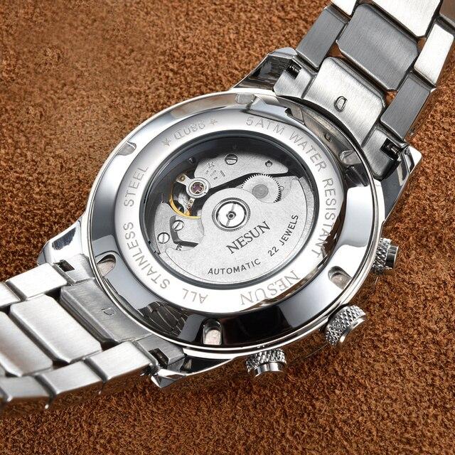 NESUN Luxury Brand Watch Multifunctional Display Automatic Mechanical 4
