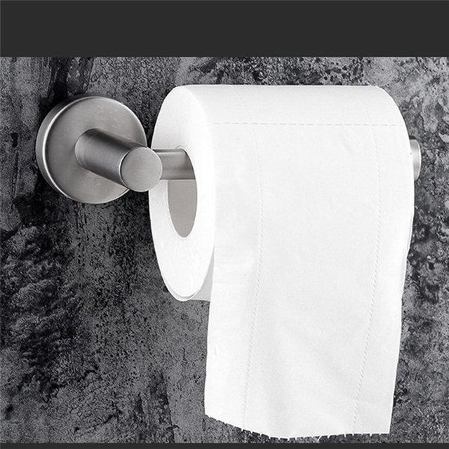 Nhà vệ sinh Cuộn Giữ 304 Thép Không Gỉ 3 M Keo Mạnh Mẽ cho Treo Vệ Sinh Khăn Giấy trong Phòng Tắm Lưu Trữ Giấy Vệ Sinh chủ
