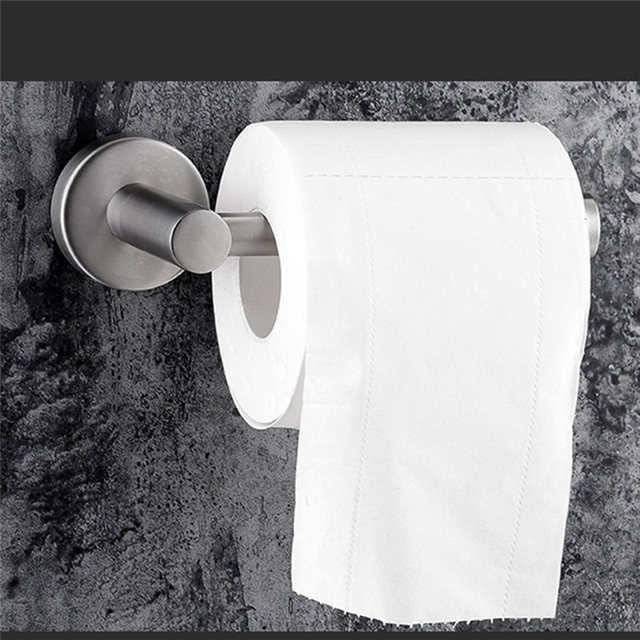 Toilet Roll Holder 304 Stainless Steel 3M Strong Glue for Hanging Hygiene Paper Towel in Bathroom Storage Toilet Paper Holder