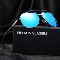 2016 New Fashion Outdoor Sports Polarized High Quality Metal Sunglasses Men Sun Glasses Male Oversized Glasses
