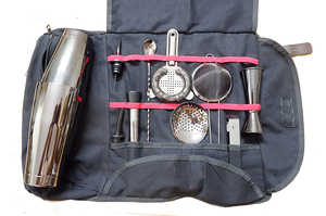 Image 5 - Bar Tool Bag Mixology Bag Empty Bag Bartenders Roll Up Kit Bag