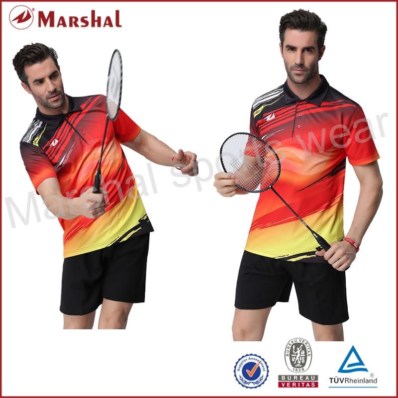 Newest badminton uniforms sets Sublimation volleyball jerseys wholesale badminton jersey