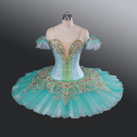צבע ירוק חצאיות טוטו לבלט למבוגרים תלבושות לבלט מקצועיות מופע בנות/ילד חצאית טוטו Custom made למכירה AT1186