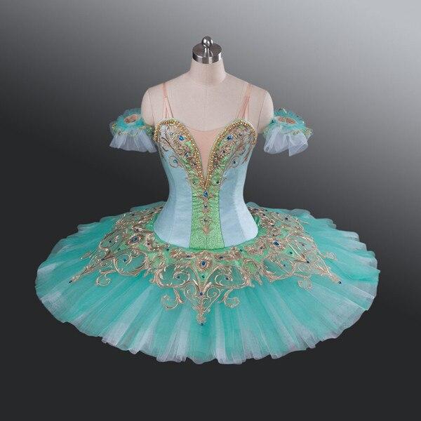 2cf4343d4 € 297.86 5% de DESCUENTO Ballet Tutus de Color verde para adultos trajes de  Ballet profesional para mostrar niñas/niños falda tutú hecha a medida ...