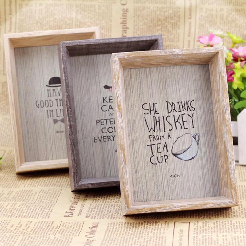 1 pc warm classic vintage photo frame home decor wooden wedding family pictures frames retro - Wooden home decor to provide warm atmosphere ...