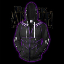 The Avengers Black Panther TChalla Hoodie Sweatshirt Cosplay Costume Movie Jacket Coats Men  Women