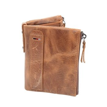 ISKYBOB High Quality Men Wallet Genuine Leather Fashion Design Large Capacity Cowhide Man Purses Card Holder Coin Pocket Men Wallets