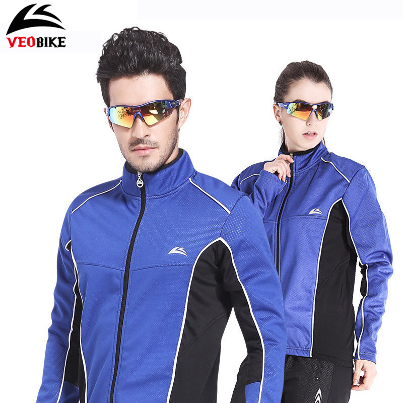 VEOBIKE Ropa Winter Ciclismo Bicycle Jersey Clothing Fleece Thermal Thicken WindStopper Jackets Men Bike Bicycle Cycling Jersey