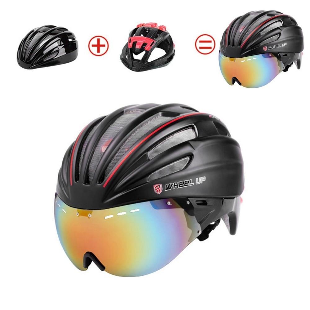 WHEEL UP Integrally Aerodynamic EPS Lens Cycling Helmet Ultra-Light Mountain Bike Helmet Universal Bike Accessories Top quality universal bike bicycle motorcycle helmet mount accessories