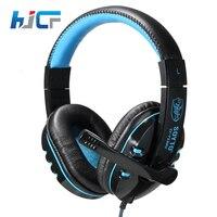 Neue HJCF Gaming Kopfhörer Für Handy PS4/PSP/PC 3,5mm Verdrahtete Kopfhörer Mit Mikrofon Led-lampe Noise Cancelling SY733