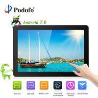 Podofo Android 7,0 подголовник автомобиля монитор 10,1 ''ips Сенсорный экран 4G WI FI USB/SD/HDMI/IR/FM спереди и сзади Камера игры APP монитора
