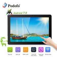 Podofo Android 7.0 Car Headrest monitor 10.1'' IPS Touch Screen 4G WIFI USB/SD/HDMI/IR/FM Front Rear Camera Games APP Monitor