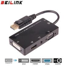 Thunderbolt DisplayPort DP мужчина к HDMI VGA, dvi аудио Женский адаптер конвертер кабель для ПК