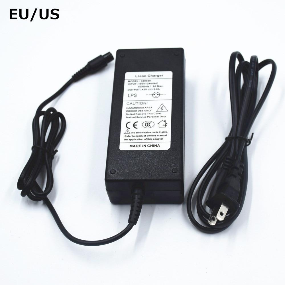 UE/EUA Carregador 42 V 2A Hoverboard Skate Bateria Li-ion Carregador fonte de Alimentação Adaptador de Carregador de Auto Balanceamento de Scooter 42 V 2A 48 W