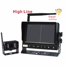 2.4G Car RearView Reversing monitor with Wireless Transmission Backup Camera for Truck, Bus (1 Pcs Digital Wireless IR Camera)