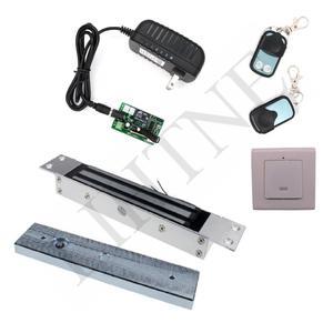 Image 2 - 180 kg 350Lbs 315 mhz Draadloze Afstandsbediening Magnetische Slot met 2 Remote Handvat Draadloze Exit 3 m Kabel
