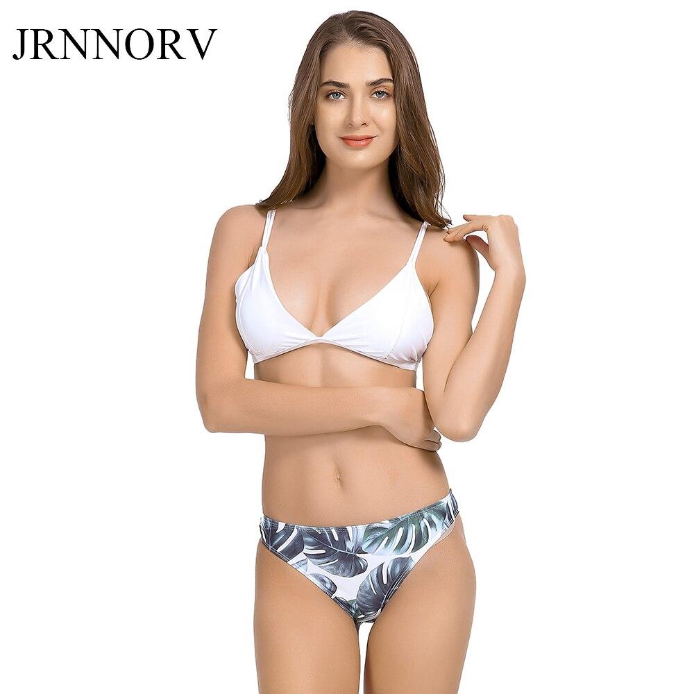 05f9323915e3 JRNNORV Sexy Bikini, Bikini brasileño, traje De baño mujeres traje De baño  De impresión De hoja ...